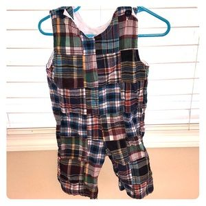Super cute patchwork long overalls